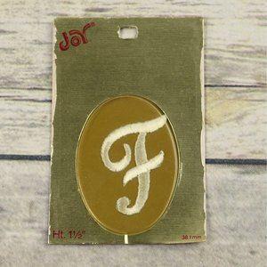 New Old Stock Iron On Monogram Letter F Joy Brand